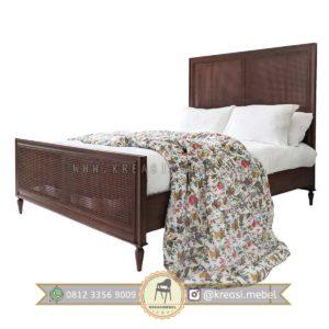 Harga Jual Tempat Tidur Minimalis Rotan Klalsik Kuno