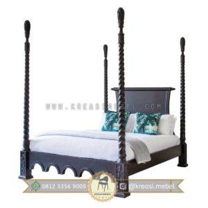 Harga Jual Tempat Tidur Klasik Dengan Pilar