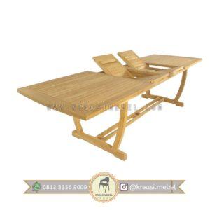 Jual Set Kursi Makan Klasik dengan 12 kursi Dan meja bisa dilipat